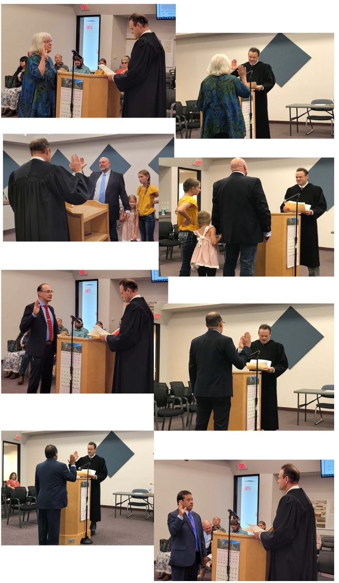 Newly Elected Directors take the Oath of Office by Chief Judge J. Miles Hanisee, NM Court of Appeals